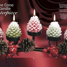 Holiday Pine Cone Candle Centerpiece