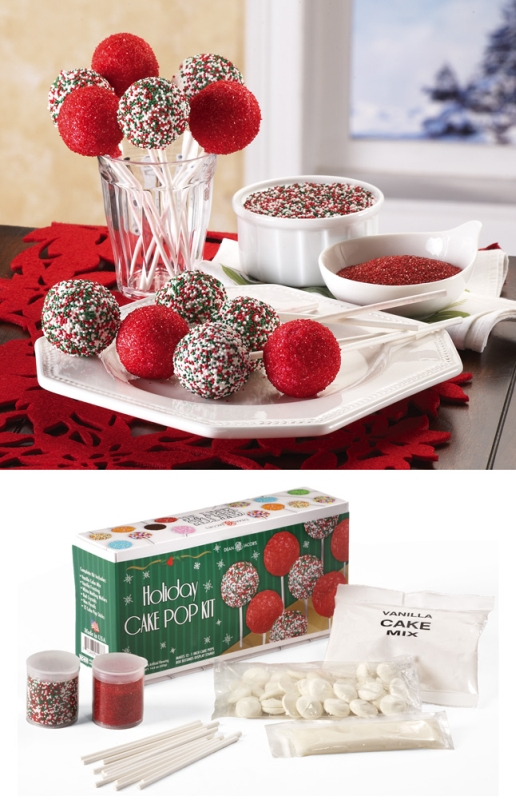 holiday cake pop decorating kit christmas. Black Bedroom Furniture Sets. Home Design Ideas