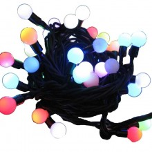 25-Light LED Random Twinkle Miniature Globe Indoor Light Set