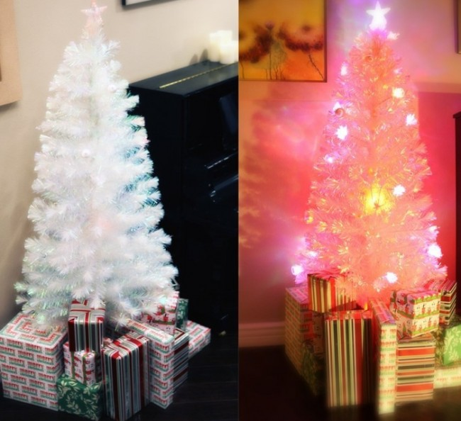 White christmas tree's musical box