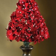 The 4' Fiber Optic Poinsettia Tre