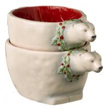 Road Winter Wilderness Polar Bear Nesting Bowls