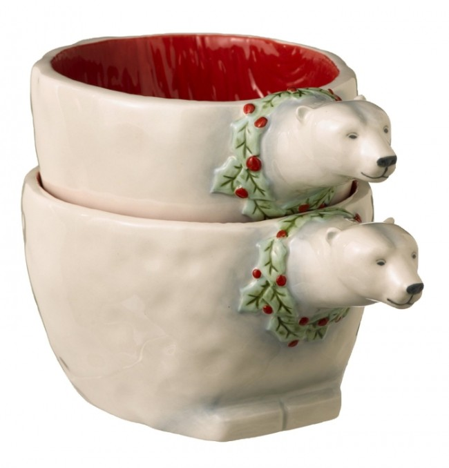 Road Winter Wilderness Polar Bear Nesting Bowls
