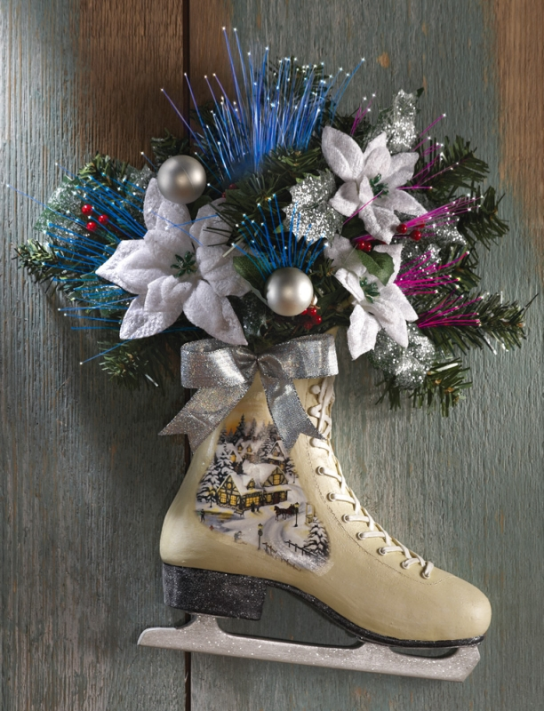 Victorian Holiday Winter Ice Skate Door Decor Christmas