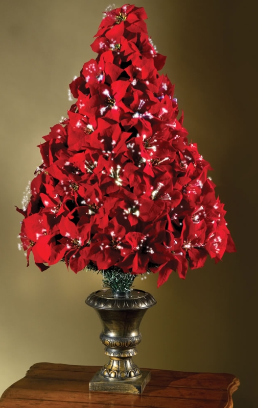 The 4 Fiber Optic Poinsettia Tree Christmas
