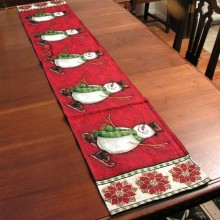 "Christmas Holiday Table Runner ""Snowman"""