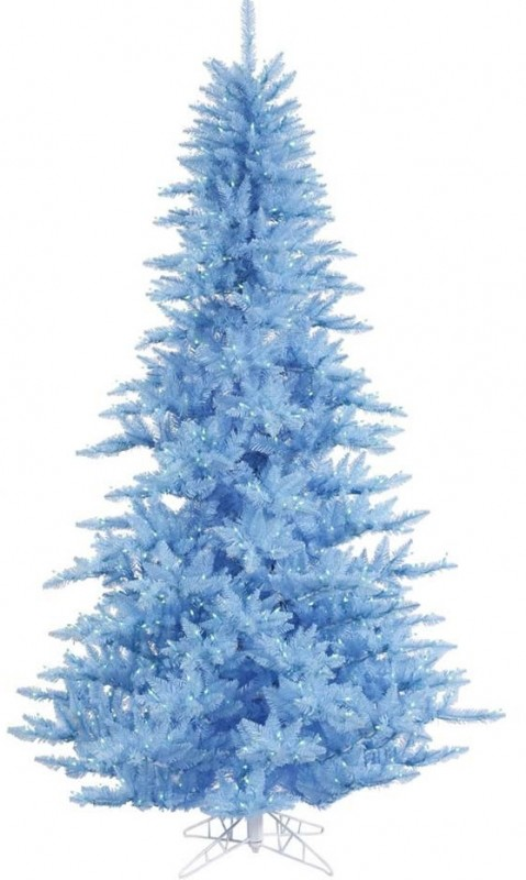 Vickerman Sky Blue Fir Tree with Blue Lights