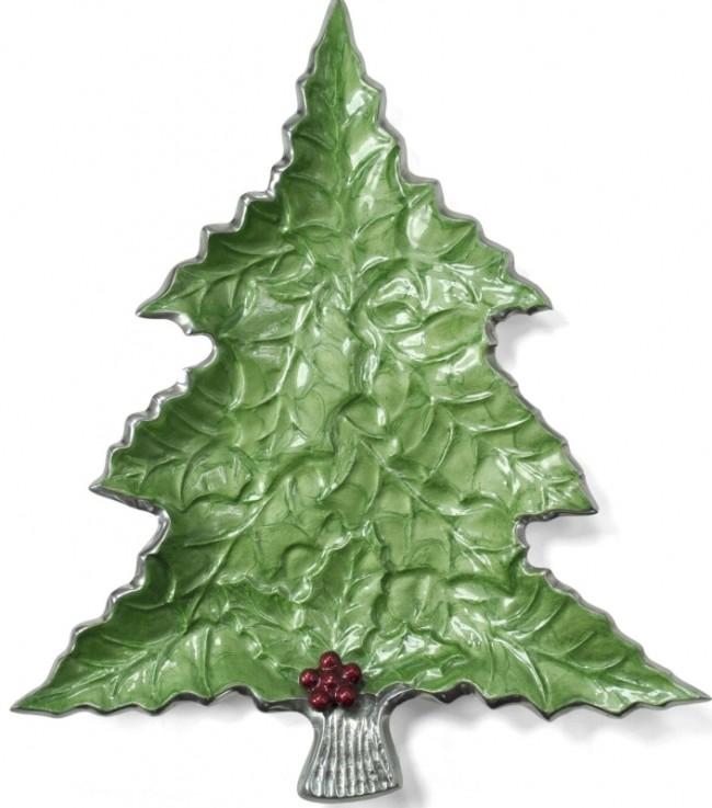 Sprig 16-inch Christmas Tree Platter