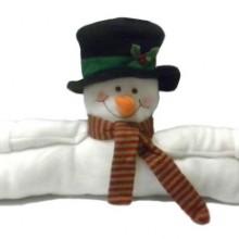 Christmas Snowman Split Door Draft Dodger Stopper