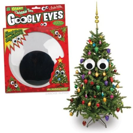 Christmas Tree Googly Eyes Ornament