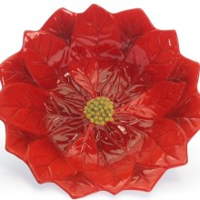 Holiday Poinsettia 13-Inch 3D Serving Bowl