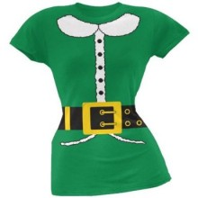 Holiday Elf Costume Juniors T-Shirt