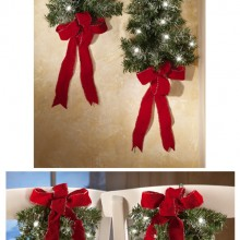 Lighted Holiday Wall Tree Set