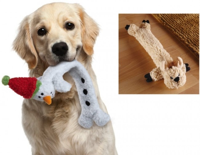 Holiday Pals Stuffing Free Dog Toys
