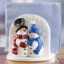 Snow Couple Holiday Salt & Pepper Accessory Set