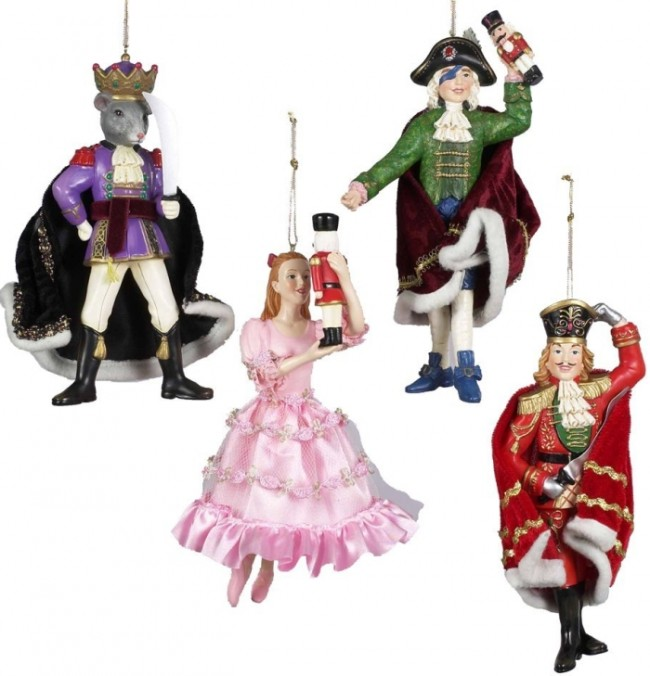 Nutcracker Suite Ornament Set of 4