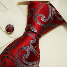 Burgundy Pattern Men with Ties