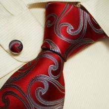 Burgundy Pattern Men with Ties