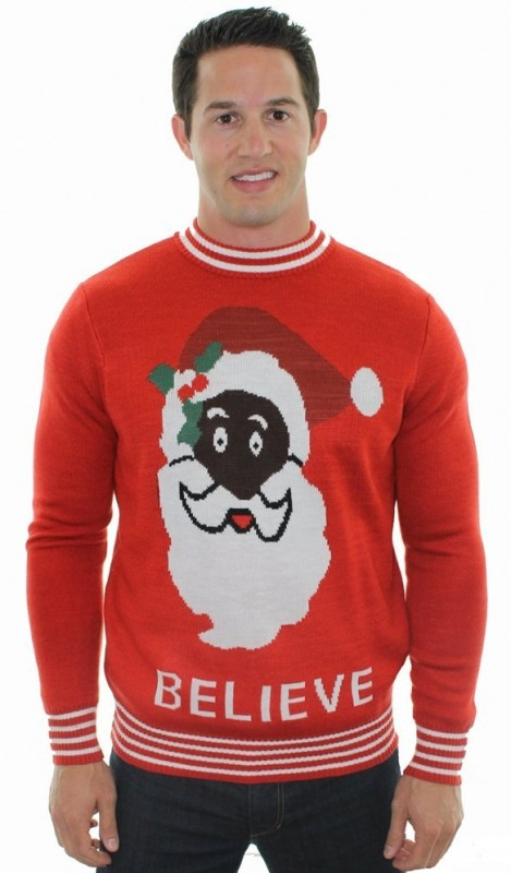 Black Santa Sweater