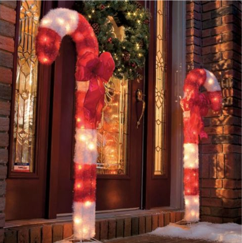 Candy Cane Outdoor Christmas Decor-Set of 2