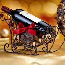 Sleigh Wine Cork Holder