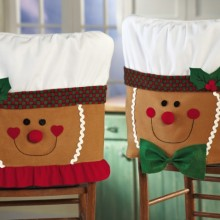 Gingerbread Holiday Dining Room Chair Covers