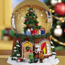 Christmas Dreams Holiday Musical Water Globe