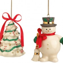Holiday Ribbon S/2, Christmas Ornaments