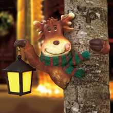 REINDEER SOLAR HOLIDAY TREE HUGGER