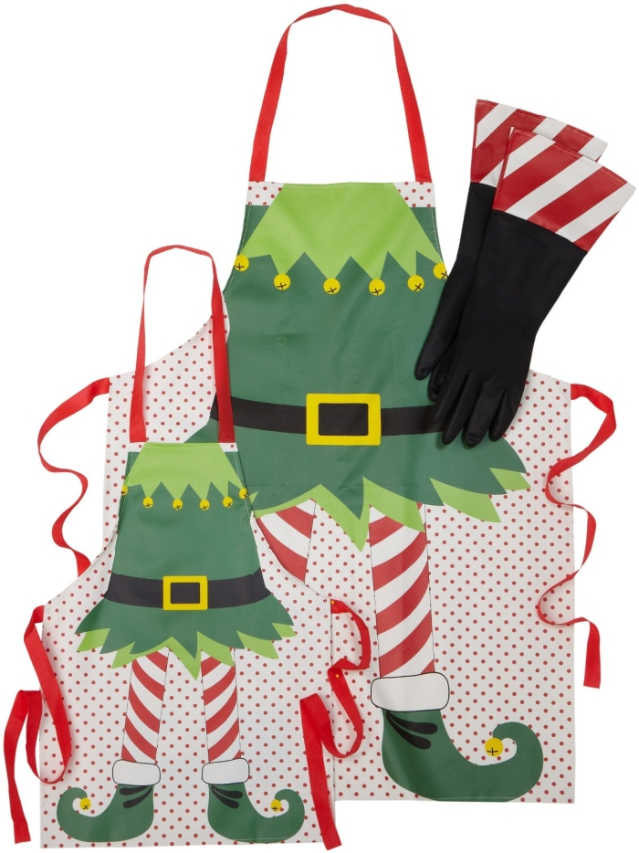 Mommy and Me Holiday Elf Apron Set