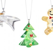 Swarovski Ornament Set (Comet, Tree, Gingerbread Man)