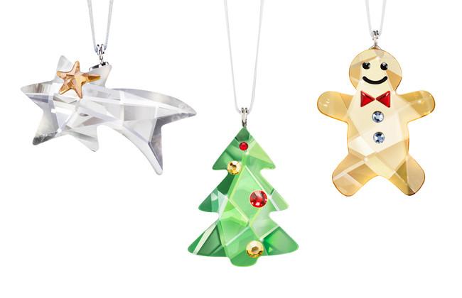 Swarovski Ornament Set (Comet, Tree, Gingerbread Man)
