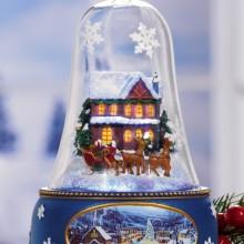 Santa's Sleigh Lighted Musical Bell Christmas Collectible