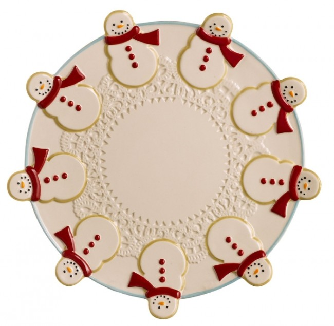 Road Sweet Tidings Snowman Cookie Tray