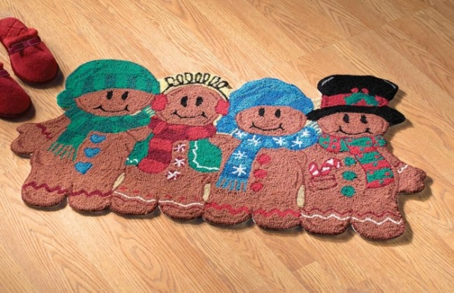 Gingerbread Pals Holiday Accent Rug