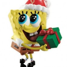 Spongebob With Present 2012 Carlton Heirloom Ornament