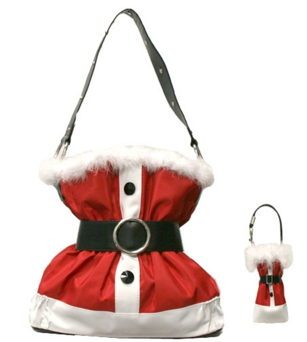 Santa Claus Suit Purse Handbag