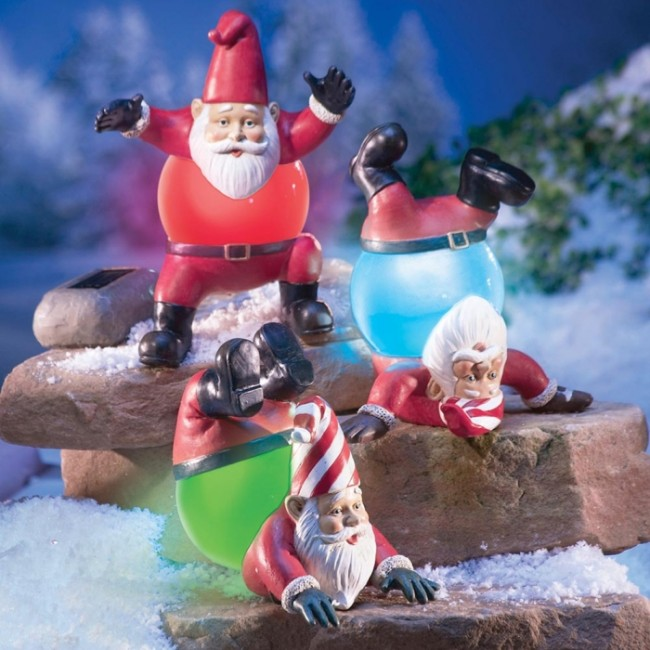 Tumbling Christmas Gnomes