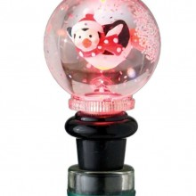 Penguin Lighted Snowglobe Bottle Topper
