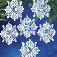 "Ornament Kit-filagree Snowflake 1-3/4"" Makes 12"