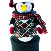 Penguin Stacking Tower Christmas Holiday Gift Basket