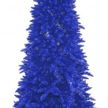 Navy Ashley Spruce 250 Blue Lights Christmas Tree