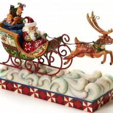 Creek Santa Musical Lighted Masterpiece Santa