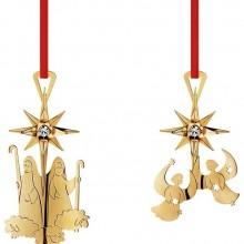 Georg Jensen Golden Christmas Ornaments 2012