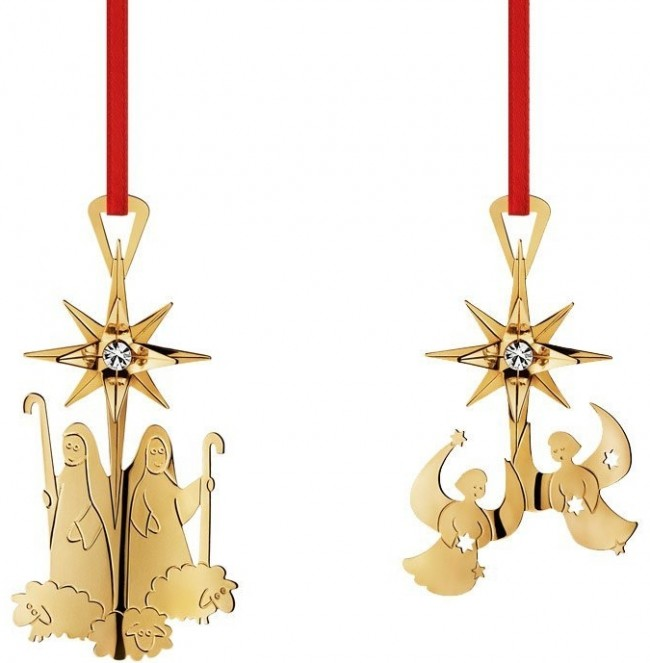 Georg Jensen Golden Christmas Ornaments 2012
