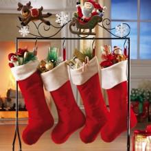 Santa & Reindeer Floor Stocking Holder