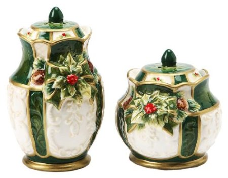 Gifts Emerald Holiday Holly Salt and Pepper Set