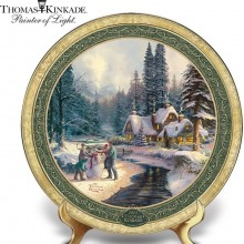 Thomas Kinkade Annual 2012 Holiday Collector Plate: At Winter's Glen