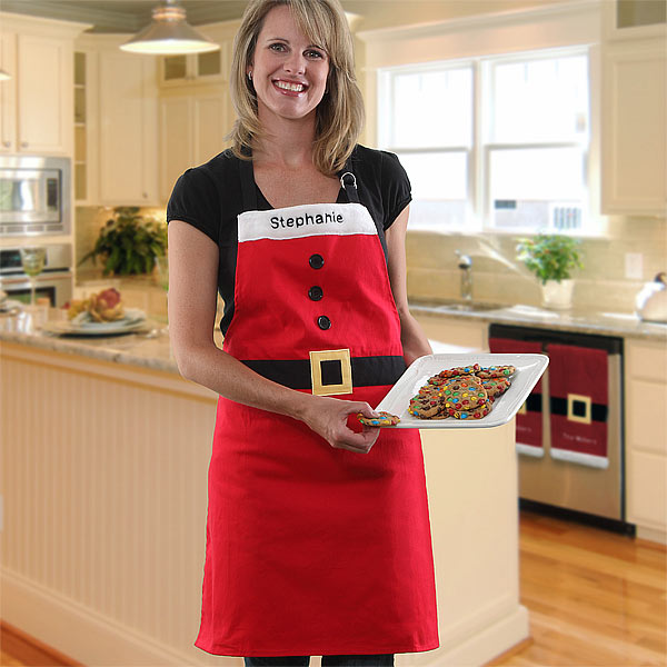 Personalized Santa Christmas Apron for Adults