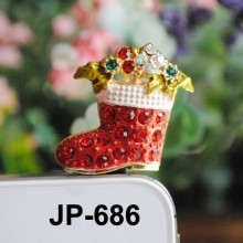 christmas Stocking (JP-686) Dust Plug / Earphone Jack Accessory